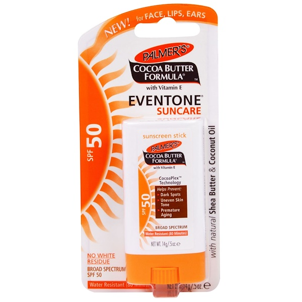Palmer's, Cocoa Butter Formula, Eventone Suncare, Sunscreen Stick, SPF 50, .5 oz (14 g) (Discontinued Item)