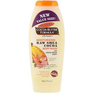 Palmer's, Cocoa Butter Formula, Moisturizing Raw Shea Cocoa Body Wash, with Cocoa Cream Scent, 17 fl oz (500 ml)