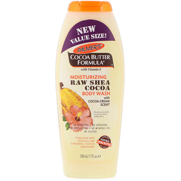Palmer's, Cocoa Butter Formula, Moisturizing Raw Shea Cocoa Body Wash, with Cocoa Cream Scent, 17 fl oz (500 ml)