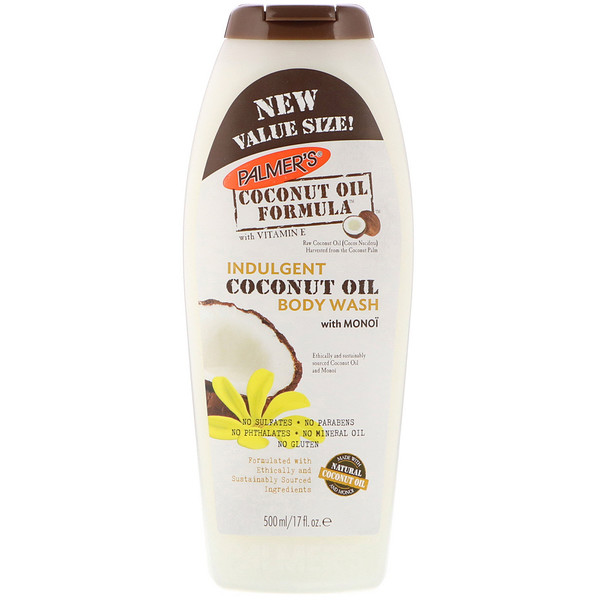 Palmer's, Coconut Oil Formula, Indulgent Coconut Oil Body Wash with Monoi, 17 fl oz (500 ml) (Discontinued Item)
