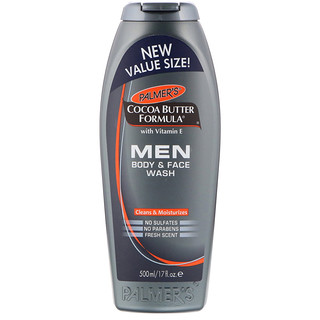 Palmer's, Cocoa Butter Formula, Men Body & Face Wash, Fresh Scent, 17 fl oz (500 ml)