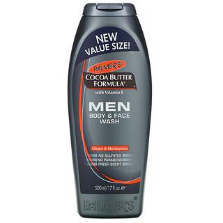 Palmer's, Cocoa Butter Formula, Men Body & Face Wash, Fresh Scent, 17 fl oz (500 ml)