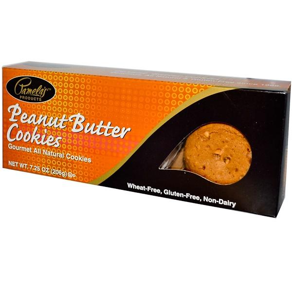 Pamela's Products, 天然美食餅乾,花生醬口味,7、25盎司,206克
