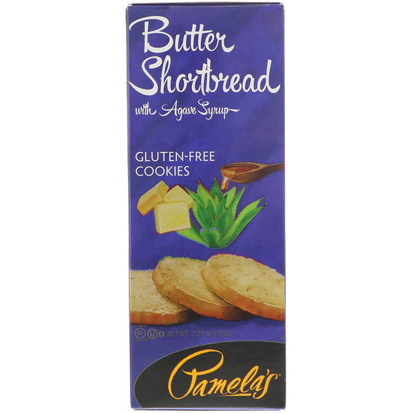 Pamela's Products, Gluten-Free Cookies, Butter Shortbread with Agave Syrup, 7.25 oz (206 g) (Discontinued Item)