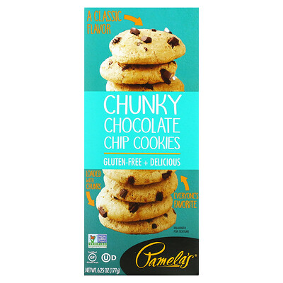 Pamela's Products Cookies, Chunky Chocolate Chip, 6.25 oz (177 g)