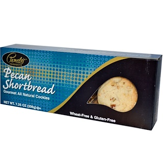 Pamela's Products, Gourmet All Natural Cookies, Pecan Shortbread, 7.25 oz (206 g)