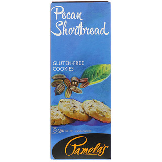 Pamela's Products, Gluten-Free Cookies, Pecan Shortbread, 7.25 oz (206 g)