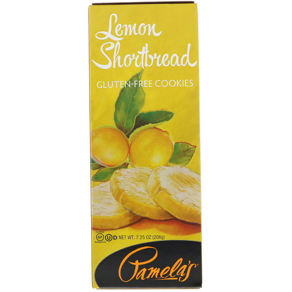 Pamela's Products, Gluten-Free Cookies, Lemon Shortbread, 7.25 oz (206 g) (Discontinued Item)