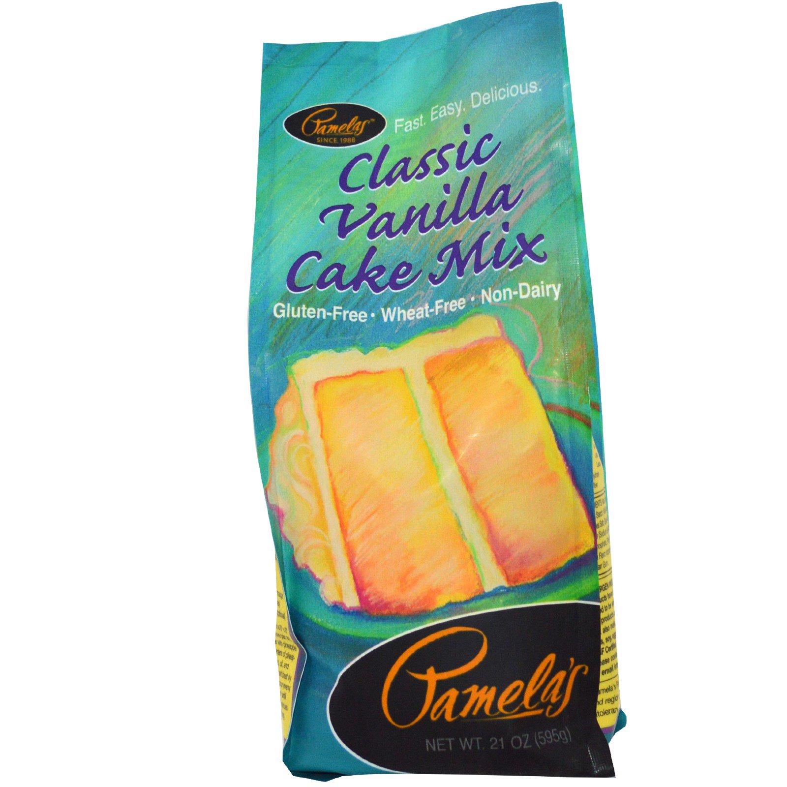 Pamela's Products, Смесь для приготовления классического ванильного торта, 21 унций (595 г)
