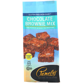 Pamela's Products, Chocolate Brownie Mix, Gluten Free, 16 oz (454 g)
