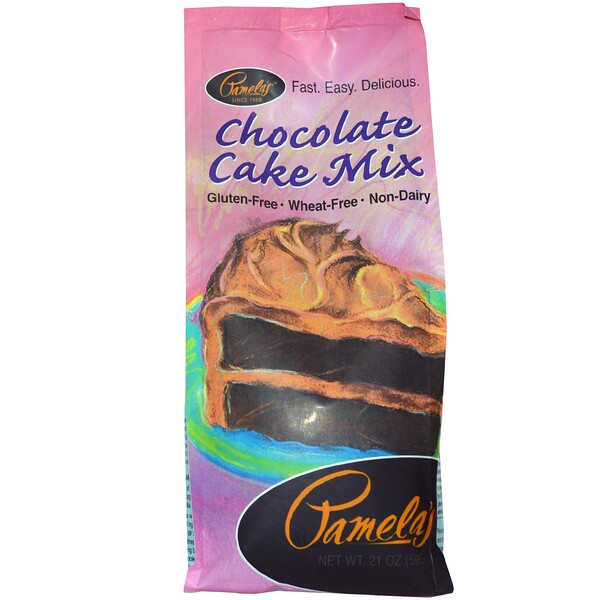 Pamela's Products, Chocolate Cake Mix, 21 oz (595 g) (Discontinued Item)