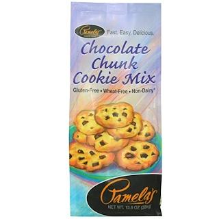 Pamela's Products, Смесь для приготовления печенья с кусочками шоколада, 13,6 унций (386 г)