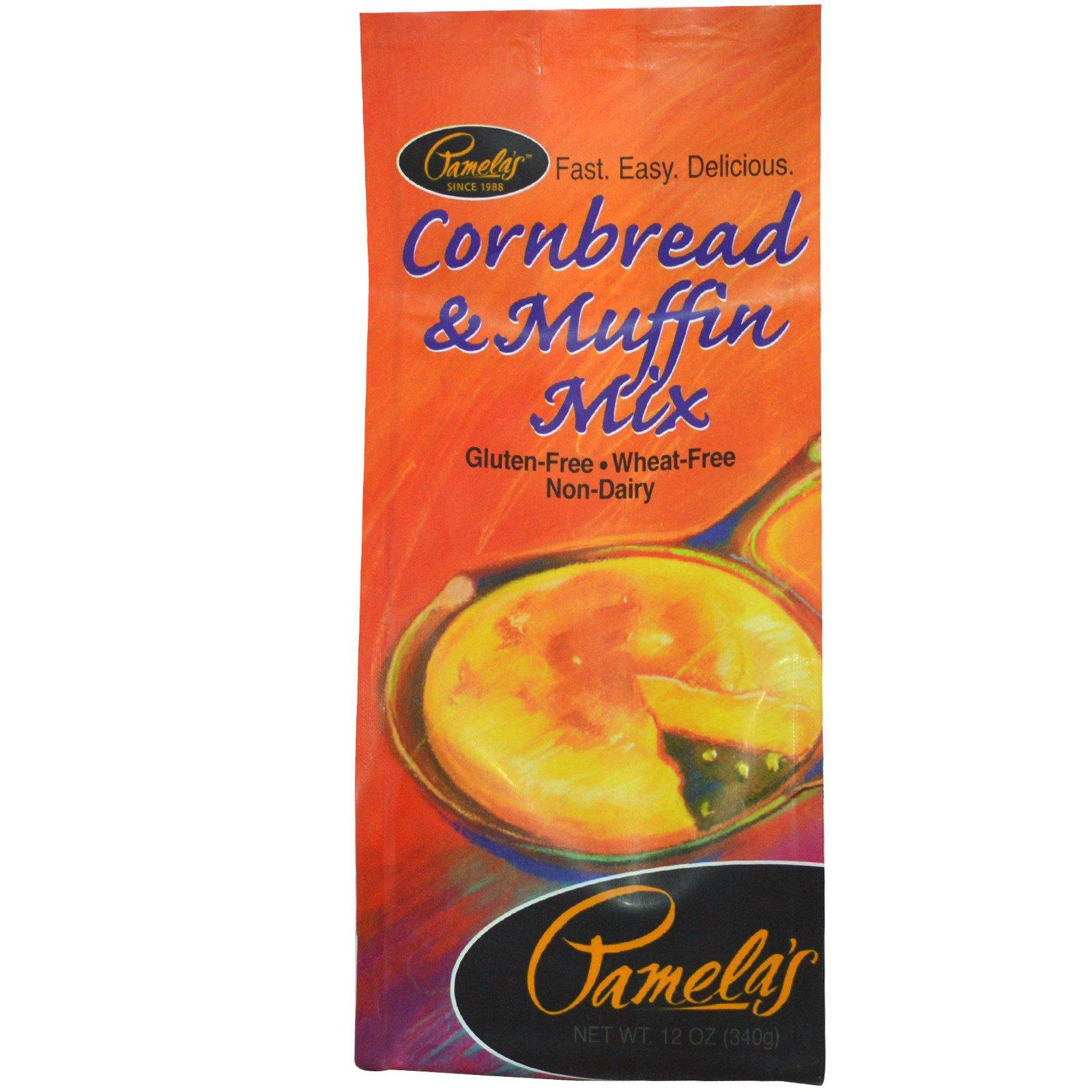 Pamela's Products, Смесь для приготовления кукурузного хлеба и кексов, без клейковины, 12 унций (340 г)
