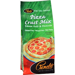 Pamela's Products, Pizza Crust Mix, Dinner Rolls & Focaccia, 11.29 oz (320 g)