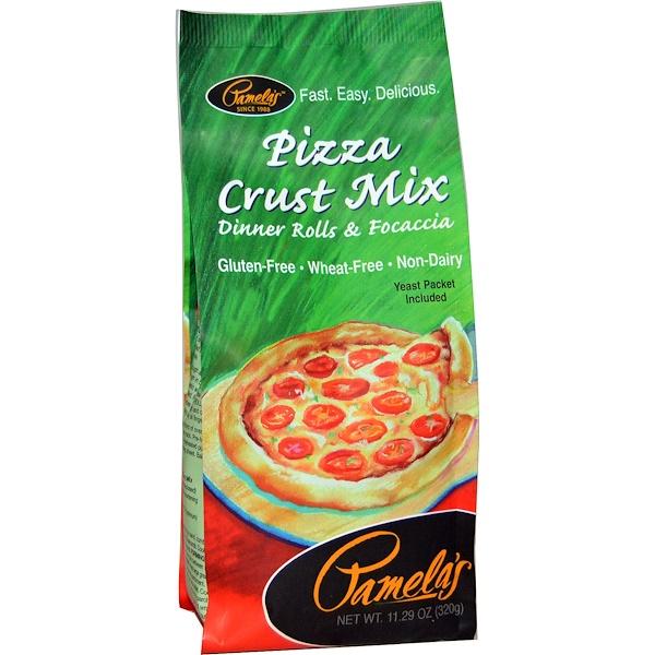 Pamela's Products, Pizza Crust Mix, Dinner Rolls & Focaccia, 11.29 oz (320 g)