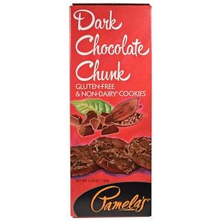 Pamela's Products, Dark Chocolate Chunk Cookies, 5.29 oz (150 g)