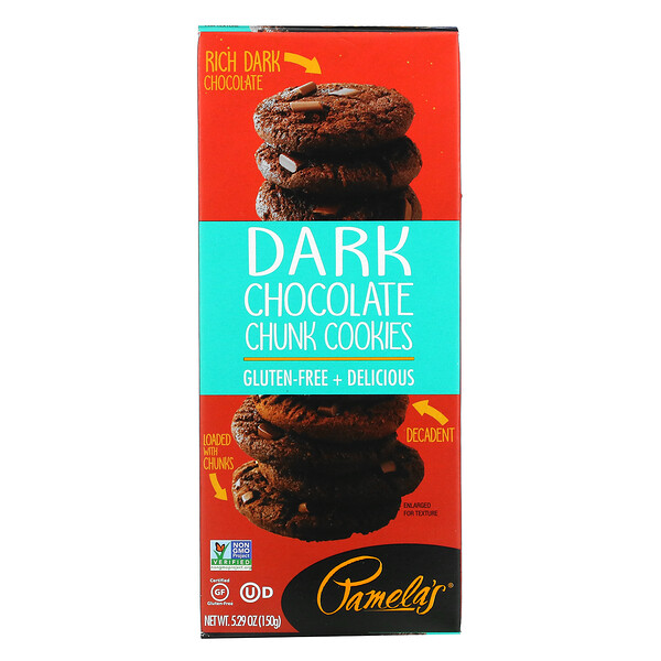 Pamela's Products, Cookies, Dark Chocolate Chunk, 5.29 oz (150 g)
