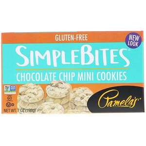 Памэлас Продуктс, Simplebites, Chocolate Chip Mini Cookies, 7 oz (198 g) отзывы
