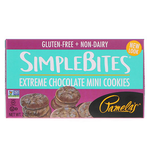 Памэлас Продуктс, Simplebites, Extreme Chocolate Mini Cookies, 7 oz (198 g) отзывы