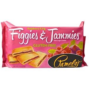 Памэлас Продуктс, Figgies & Jammies, Extra Large Cookies, Raspberry & Fig, 9 oz (255 g) отзывы