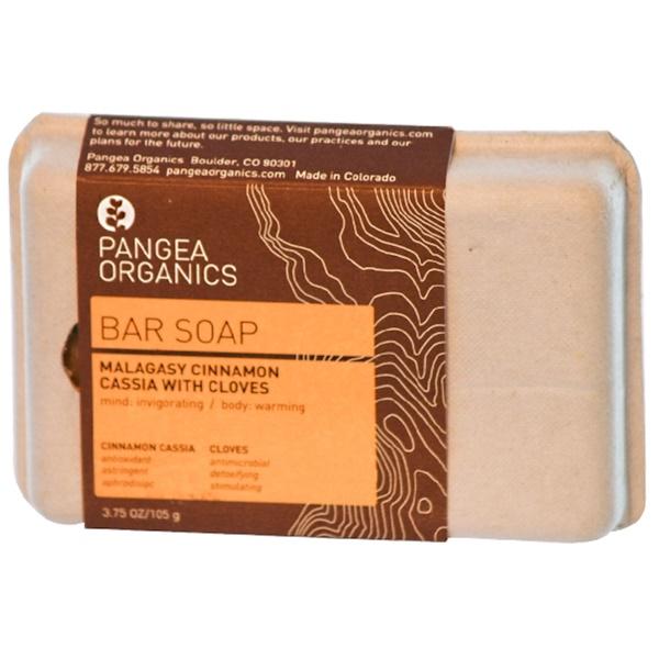 Pangea Organics, Malagasy Cinnamon Cassia with Cloves Bar Soap, 3.75 oz (105 g) (Discontinued Item)