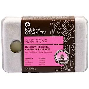 Пангеа Продуктс, Bar Soap, Italian White Sage, Geranium & Yarrow, 3.75 oz (106 g) отзывы