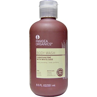 Pangea Organics, Body Wash, Canadian Pine with White Sage, 8.5 fl oz (251 ml)