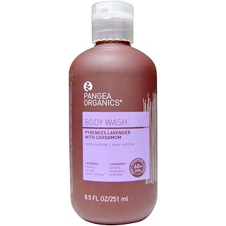 Pangea Organics, Pyrenees Lavender with Cardamom, Lavender, Body Wash, 8.5 fl oz (251 ml)