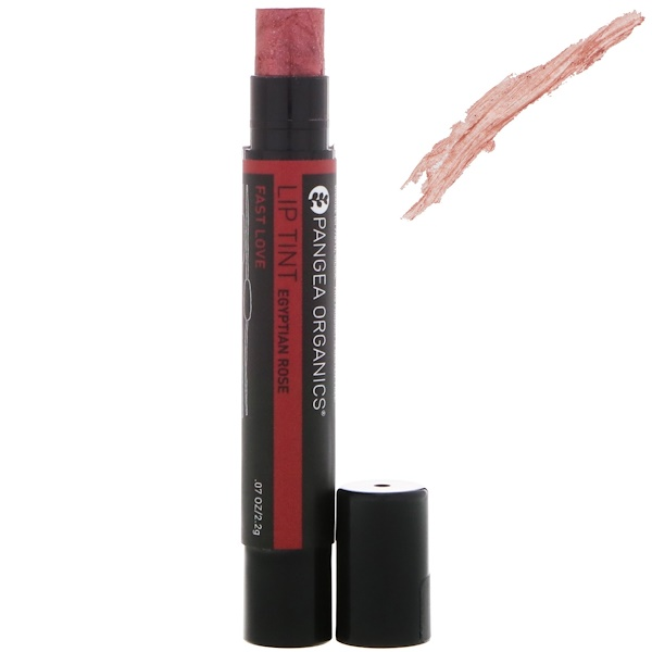 Pangea Organics, Lip Tint Egyptian Rose, Fast Love, .07 oz (2.2 g) (Discontinued Item)
