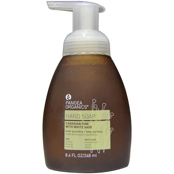 Pangea Organics, 手皂,加拿大鬆與白鼠尾草,8、4盎司(248毫升)