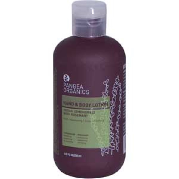 Pangea Organics, Hand & Body Lotion, Indian Lemongrass with Rosemary, 8.5 fl oz (250 ml) (Discontinued Item)