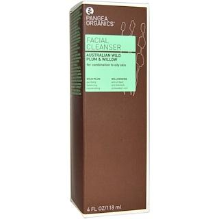 Pangea Organics, Facial Cleanser, Australian Wild Plum & Willow, 4 fl oz (118 ml)