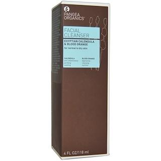 Pangea Organics, Facial Cleanser, Egyptian Calendula & Blood Orange, 4 fl oz (120 ml)