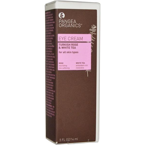 Pangea Organics, Eye Cream, Turkish Rose & White Tea, .5 fl oz (14 ml) (Discontinued Item)
