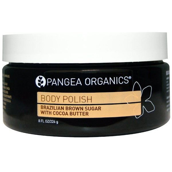 Pangea Organics, Body Polish, Brazilian Brown Sugar with Cocoa Butter, 8 fl oz (226 g) (Discontinued Item)