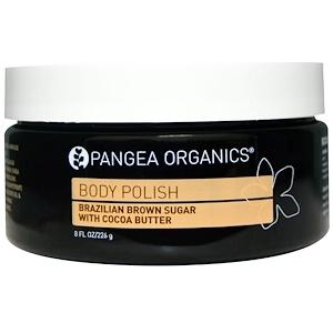 Пангеа Продуктс, Body Polish, Brazilian Brown Sugar with Cocoa Butter, 8 fl oz (226 g) отзывы