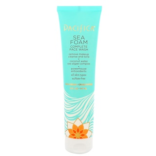 Pacifica, Natural Skincare, Sea Foam, Complete Face Wash, All Skin Types, Sulfate Free, 5 oz