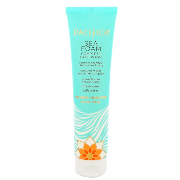 Pacifica, Complete Face Wash, Sea Foam, 5 fl oz (147 ml)