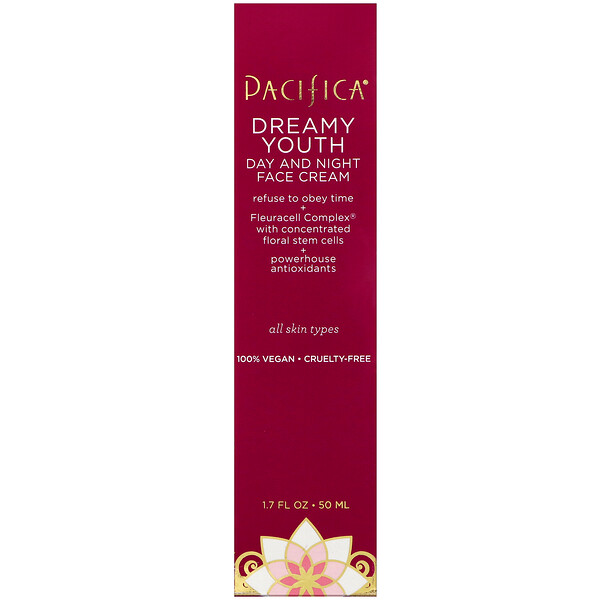 Pacifica, Dreamy Youth, Day and Night Face Cream, All Skin Types, 1.7 fl oz (50 ml)