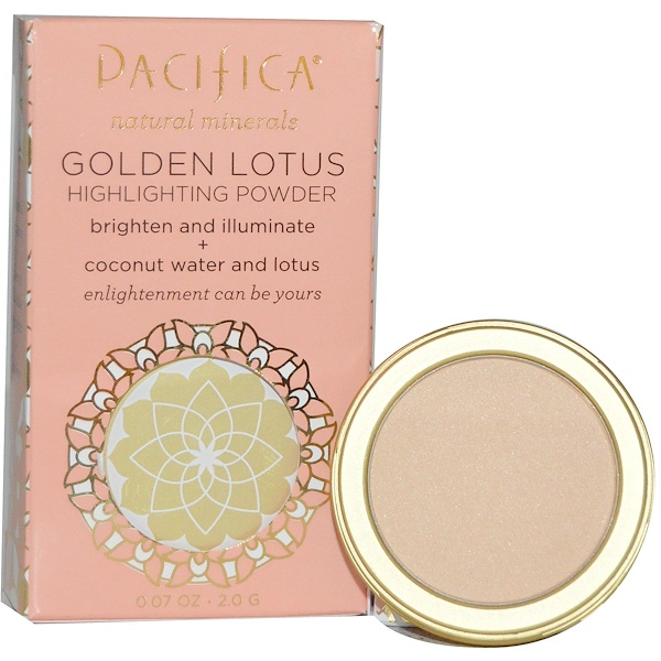 Pacifica, Golden Lotus, Highlighting Powder, Sheer Golden Glow, 0.07 oz (2.0 g) (Discontinued Item)