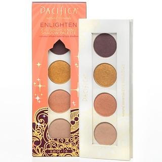 Pacifica, Natural Minerals, Eye Brightening Shadow Palette, Enlighten, 0.25 oz (7 g)