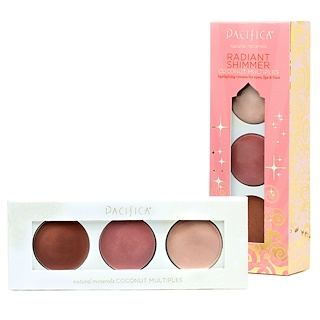 Pacifica, Natural Minerals, Radiant Shimmer, Coconut Multiples, 0.40 oz (11 g)
