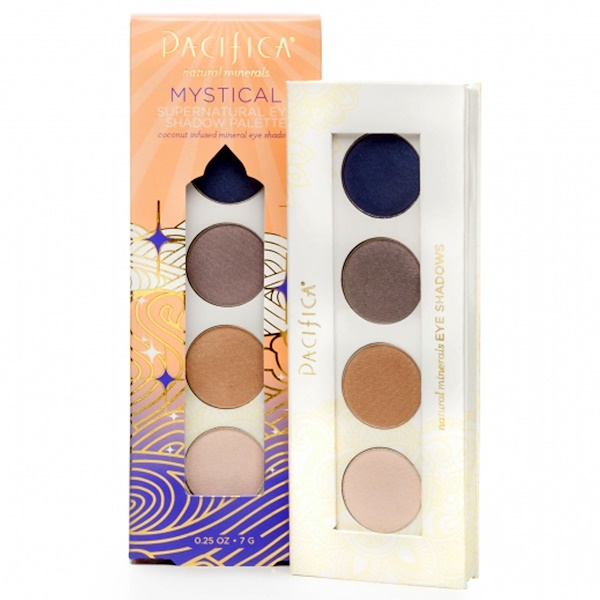 Pacifica, Natural Minerals, Supernatural Eye Shadow Palette, Mystical, 0.25 oz (7 g) (Discontinued Item)