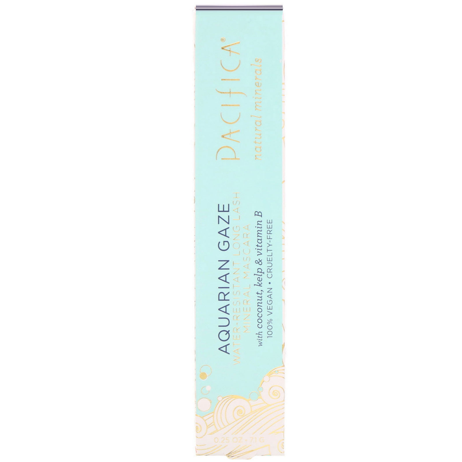 36c98af384b Pacifica, Aquarian Gaze, Water-Resistant, Long Lash Mineral Mascara, Abyss,  0.25 oz (7.1 g). By Pacifica