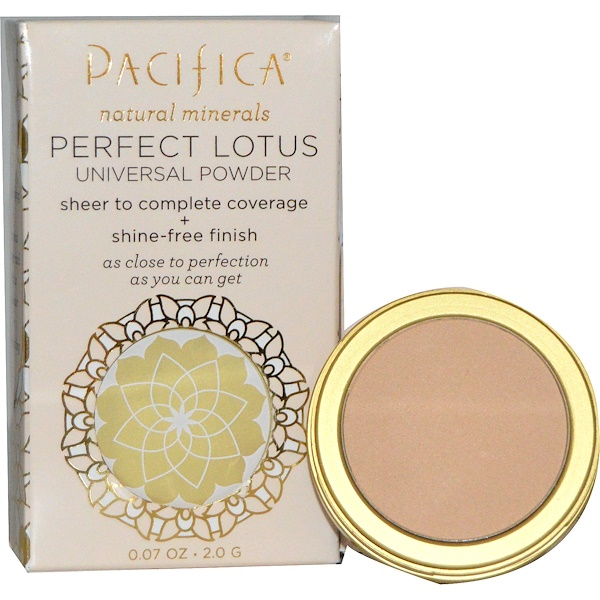 Pacifica, パーフェクトロータス, ユニバーサルパウダー, ライト, 0.07オンス (2.0 g) (Discontinued Item)