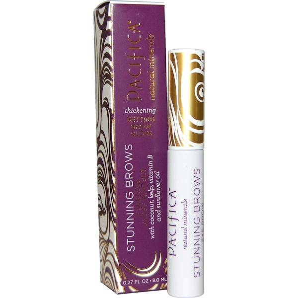 Pacifica, Stunning Brows, Eyebrow Gloss And Set, Clear, 0.27 fl oz (8.0 ml) (Discontinued Item)
