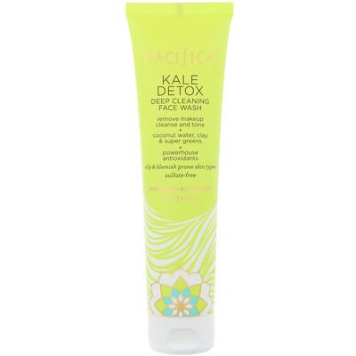 Pacifica Kale Detox Deep Cleansing Face Wash, 5 fl oz (147 ml)  - купить со скидкой