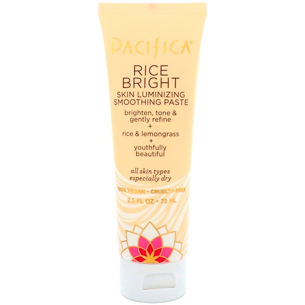 Pacifica, Rice Bright, Skin Luminizing Smoothing Paste, 2.5 fl oz (73 ml) (Discontinued Item)