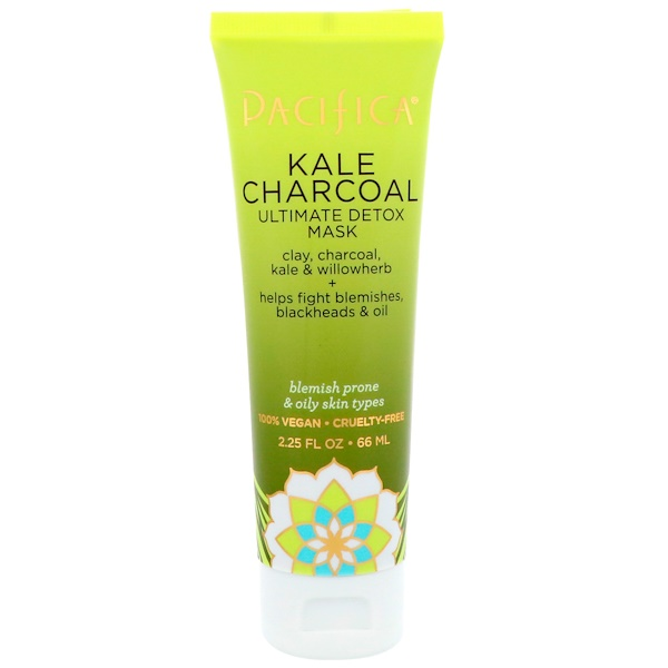 Pacifica, Kale Charcoal Ultimate Detox Mask, 2.25 fl oz (66 ml)