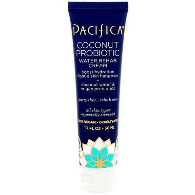 Pacifica Coconut Probiotic Water Rehab Cream, 1.7 fl oz (50 ml)